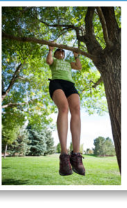 Tree pop-ups or pull-ups are a great way to increase grip strength!